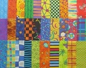 Quilt Fabric Squares, 5 inch, Bright Colors Charm Pack