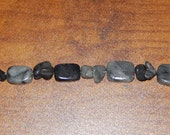 SALE!!  25% Off!!  Women's Black and Gray Marble Rectangle and Pebble Bracelet