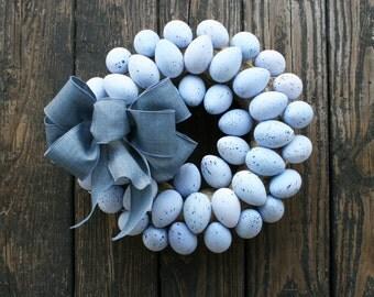 Easter Wreath, Easter Egg Wreath, Speckled Easter Egg Wreath, Egg Wreath, Spring Wreath