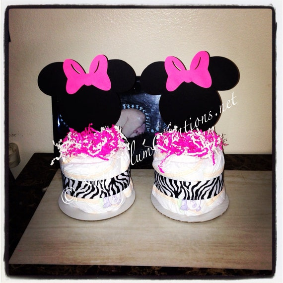 minnie mouse diaper cake minis baby shower or birthday decorations