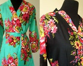 set of 9 Bridesmaid Robes, BLACK ROBES, wedding favors, Kimono Robe, Perfect bridesmaids Gift, Bath Robes, Getting ready robe