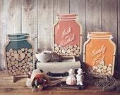 SALE Mason Jar : Size 3 Wedding Guest Book alternative