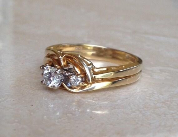 Lovely High End 14k Yellow Gold Diamond Wedding By Viviansgirl