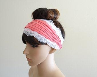 Deep Pink Headband. Headwrap