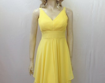 Yellow Bridesmaid Dress. Yellow Evening Dress
