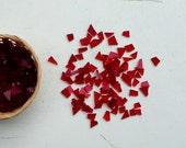 mosaic tiles. RED cathedral glass tiles for mosaic 100 tiles. handcut, irregular. Italian glass, supplies