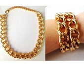 Gold Statement Necklace chain link necklace statement jewelry RICH GIRL