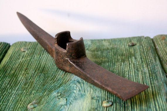 Salvaged Italian pick axe tool head