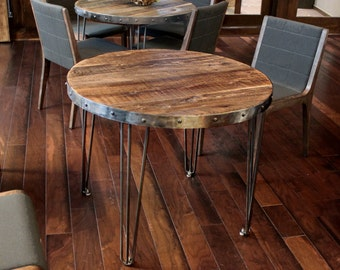Reclaimed Wood Table, Round