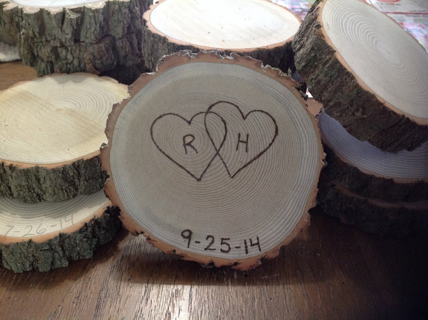 125 rustic wedding favor coasters barn wedding country