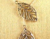 Silver Leaf Necklace- Adjustable to Various Lengths and Styles