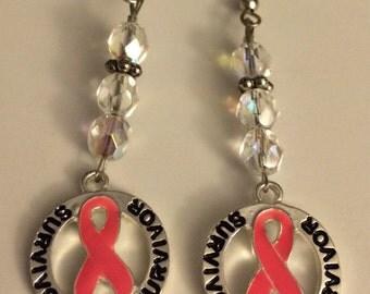 SURVIVOR Breast Cancer Earrings II