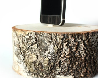 Birch Pillar Survivor Docking Station for iPhone 6 and iPhone 5 - Gift for Cancer Survivor, Mom, Dad