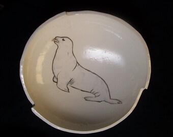 Large California Sea Lion bowl.