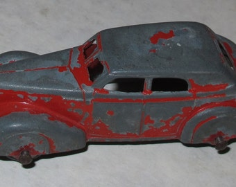 vintage die cast car three wheeled tootie toy