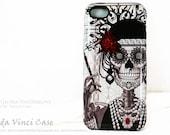 "Flapper Girl Skull iPhone 5c Case - ""Mrs Gloria Vanderbone"" - Art Deco Black and White Sugar Skull iPhone 5c TOUGH Case"