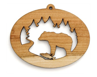 Black Bear Ornament - Timber Green Woods Northwoods Collection