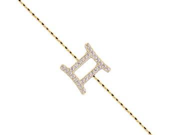 Pave Gemini Bracelet-Silver