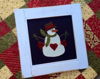 Heartfelt Christmas wool applique pdf pattern
