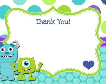 """Monsters Thank You Cards 4x6"""""""