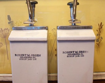 Robert M. Green Syrup Jar's, The Inventor of the Ice Cream Soda