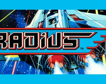 "Gradius Marquee, Arcade, 12 x 36"" Video Game Poster, Print"