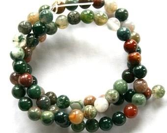 6 mm Fancy Jasper Colorful Semi Precious Gemstone Round Beads