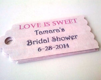 50 Wedding Favor Tags/ Custom Favor Gift Tags/ Personalized