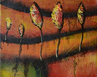 """Oil painting by hand made on canvas ,12""""X12""""  Ready to Hang, Inner Frame."""