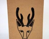 hand stamped delightful deer unlined blank journal