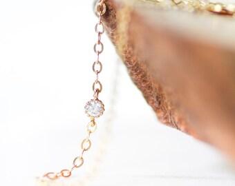Hoku bracelet - gold bracelet, solitaire gold bracelet, thin delicate gold bracelet, everyday jewelry, bracelet, dainty gold bracelet, maui