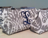 Monogrammed Bridesmaid Clutch Set