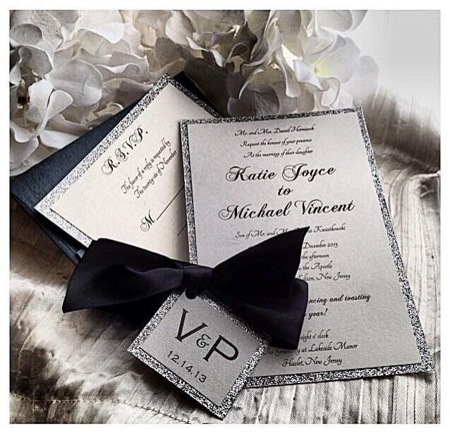 Black Tie Wedding Invitation Wording: Wedding Invitations Black Tie Wedding Invitation Black And