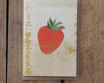 Speckled Strawberry Card