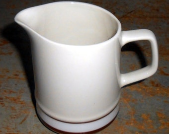 Vintage Creamer, Brown & White, Elegance Collection, Small, Pitcher, Vase, Syrup Pitcher