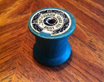Vintage Green J & P Coats thread spool