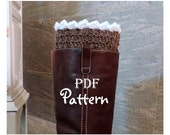PDF CROCHET PATTERN - Make It Yourself:  Pattern for Snow Country Boot Cuffs, 2 in 1 Crochet Boot Toppers, Digital Download, With Photos