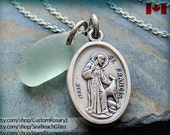 St Francis. St. Francis. Necklace. Pendant. Medal. Saint Francis. Charm. Catholic. Jewelry. STERLING Silver Chain. St Anthony. Saint Anthony