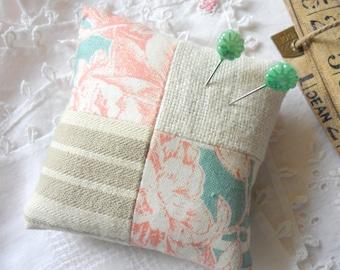 Vintage Fabric Patchwork Pincushion