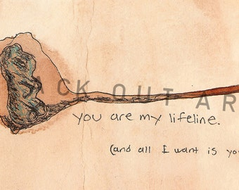 Lifeline Gummi Bear: Art Print- 4x6