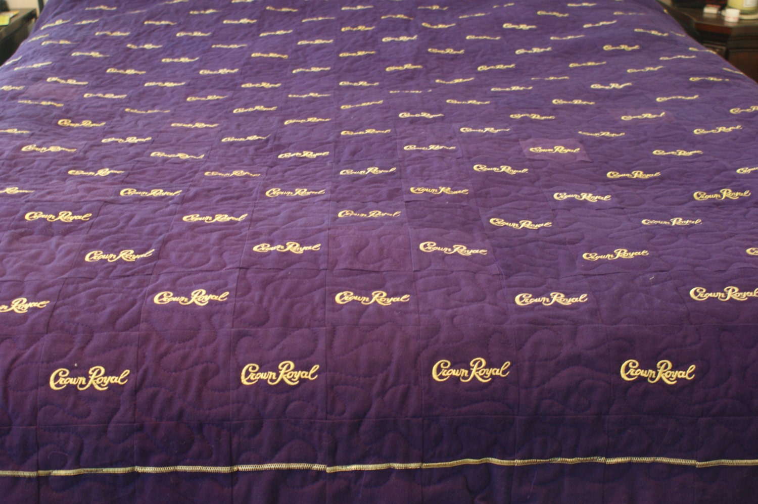 Blanket Made Out Of Crown Royal Bagsown Royal Quilts Bag Gloves