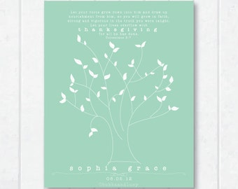 Let Your Roots Grow Childrens Scripture Print with Tree and Colossians 2:7