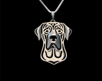 Tosa Inu - sterling silver pendant and necklace