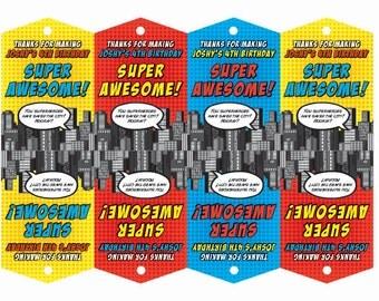 Superhero Bag Tags PRINTABLE