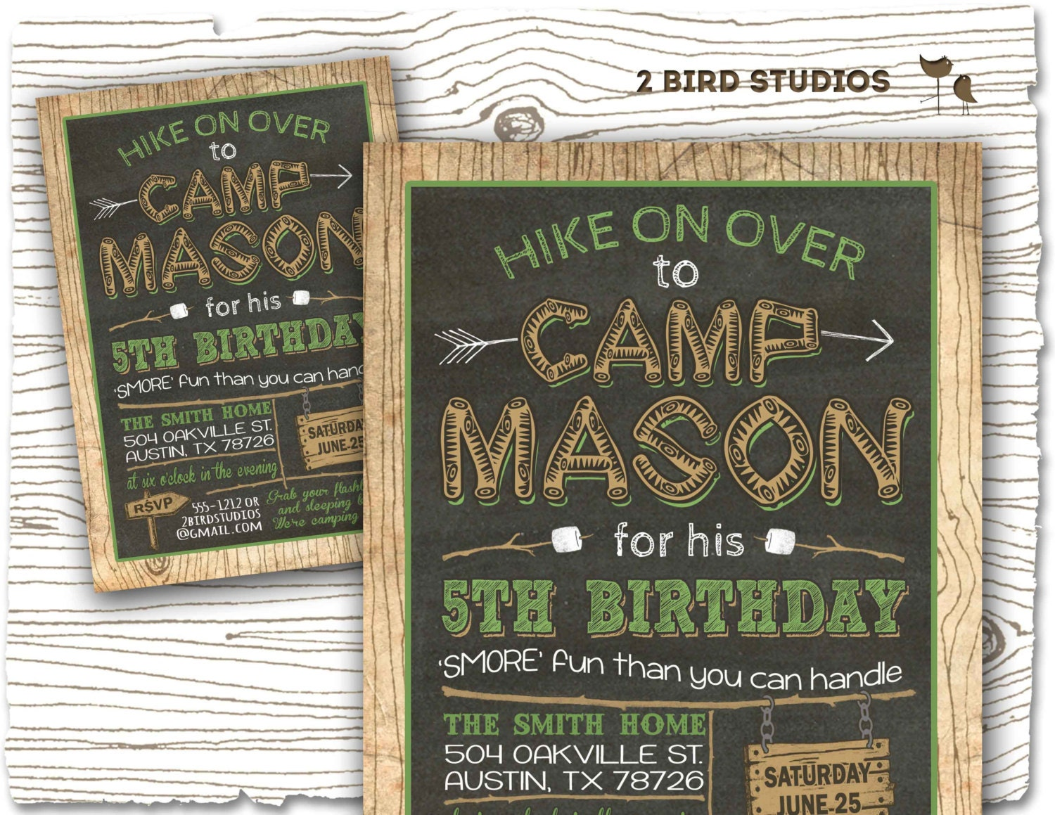 Camping invitation Camping party invitation camping birthday
