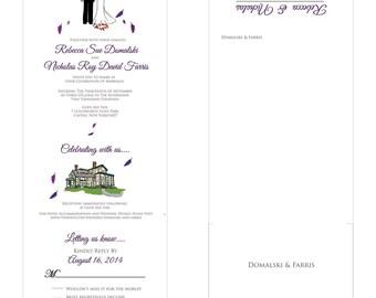 Custom Wedding Invitations, Personalized Wedding Invites, DEPOSIT For 100 Unique Custom Wedding Seal And Send Invitations