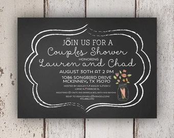 Chalkboard Couples Wedding Shower Invitation