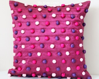 pink decorative pillow pink throw pillow pink pillow cover decorative pillows 16x16 pillows accent pillow couch
