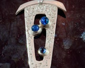 Through the Window Pane, fine silver pendant