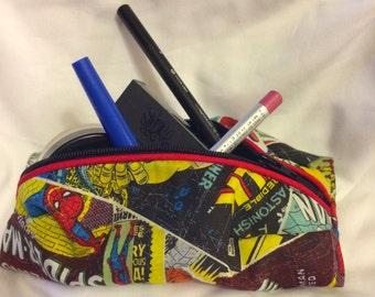 Small Custom Comic Matching Make Up bag to your hobo bag